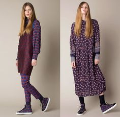 Mother of Pearl London 2015 Pre Fall Autumn Womens Lookbook Presentation - Petals Adornments Embroidery 3D Embellishments Coat Dress Wide Leg Palazzo Pants Trousers Tartan Plaid Lounge Sleepwear Stars Flowers Florals Botanical Stripes Bell Sleeves Shorts Cropped Pants Curved Hem Skirt Frock Ornamental Print Decorative Art Blouse Print Graphic Pattern Backpack Bejeweled Blazer Sneakers