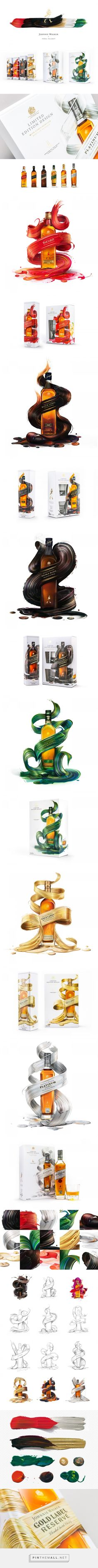Johnnie Walker x Pawel Nolbert Limited Artist Edition - http://www.packagingoftheworld.com/2017/01/johnnie-walker-x-pawel-nolbert-limited.html