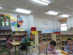 1ª visita de los alumnos/as de Infantil a la biblioteca