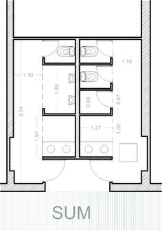 Ada bathroom dimensions with simple sink and toilet for for Bano publico medidas