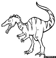 baryonyx coloring page free baryonyx online coloring - Coloring Pages Kindergarteners
