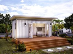 12 Ideas container house design families flat for Monaco Prefabricated Modular Home Prefab Container Homes, Building A Container Home, Container Cabin, Container Buildings, Container Architecture, Shipping Container Homes, Prefab Homes, Modular Homes, Shipping Containers
