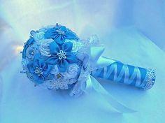 HandmadeFamily / Saténová kytica Frozen