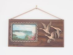 Vintage souvenir Canadian wall plaque by freshdarling Vintage Style, Vintage Fashion, Flying Geese, Wall Plaques, 1960s, Fall, Travel, Decor, Souvenir