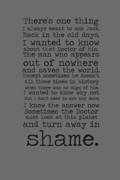 Gwen's haunting monologue from Children of Earth. Sent shivers down my spine first time I heard it.