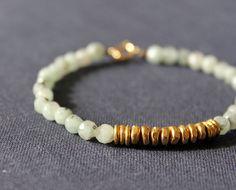 jasper gemstone layered metal bracelet by minco on Etsy, $25.00