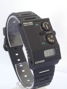 Citizen AM/FM watch (1985)
