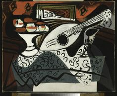 Still Life Pablo Picasso (Spain, active France, 1881-1973) France, 1927 Paintings Oil on canvas 25 1/2 x 32 in. Frame: 34 × 40 × 3 in. (86.36 × 101.6 × 7.62 cm) Partial, fractional and promised gift of Janice and Henri Lazarof (M.2005.70.102) Modern Art