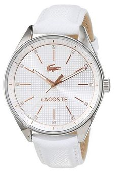 Amazing offer on Lacoste Women's 2000900 Philadelphia Analog Display Japanese Quartz White Watch online Mens Watches For Sale, Trendy Watches, Modern Watches, Cheap Watches, Luxury Watches, Bracelet Cuir, Bracelet Watch, Pink Watch, Skeleton Watches
