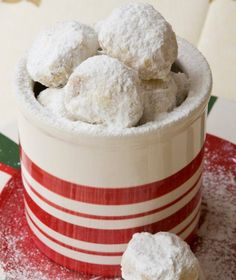 kourabiedes = by stelios Greek Sweets, Greek Desserts, Greek Recipes, Christmas Tea, Christmas Sweets, Christmas Baking, Greek Christmas, Christmas Cookies, Pastry Recipes