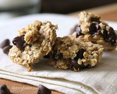 """Oats, ripe bananas and chocolate chips – these healthy, """"breakfast"""" cookies are chewy and delicious, and made with just three ingredients"""