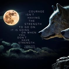 """Courage isn't having the strength to go on; it is going on when you don't have strength."" ~Napoleon Bonaparte"