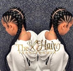 35 Cornrow Hairstyles The number styles you can create with cornrows are limitless! Read on our cornrows guide with conrow hairstyles inspiration and different looks you can create. Black Girl Braids, Girls Braids, 2 Braids, Fishtail Plaits, Braided Ponytail, 2 Feed In Braids, Tree Braids, Cute Cornrows, Long Cornrows