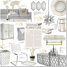 Polyvore Home Decor Mirror Magic By Justlovedesign On West Elm Inspiration Boards Jonathan Adler