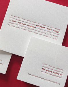 Composition Letterpress Wedding Invitation