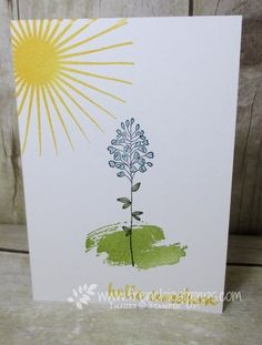 Flowering Fields Cards on Pinterest | Fields, Stampin Up ...