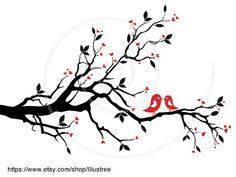 Wedding tree wedding invitation kissing birds by Illustree on Etsy, $5.00 https://www.etsy.com/listing/104059681/wedding-tree-wedding-invitation-kissing?ref=shop_home_active_20