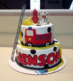 Fireman/fire truck cake