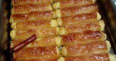 Γαλακτομπουρεκάκια πεντανόστιμο, με πλούσια γεύση και σιρόπι φανταστικό. Φτιάξτε το σε ρολά είναι απολαυστικά !!! ΥΛΙΚΑ 1 πακέτο φύλλο κρ... Finger Foods, Bacon, Bakery, Sweets, Breakfast, Desserts, Morning Coffee, Tailgate Desserts, Deserts