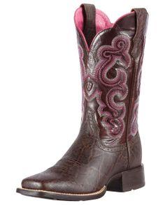 Ariat Women's Quickdraw Boot - Chocolate Elephant Print/Teak