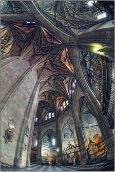 Interior of Segovia Cathedral, Spain
