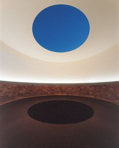 James Turell, The Crater's Eye, which is open to the sky.