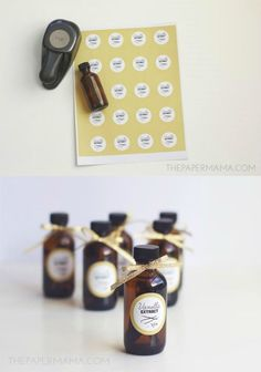 Cute printable labels for your vanilla extract - you can keep these for yourself or give as gifts (also includes a blank label for other spices!)
