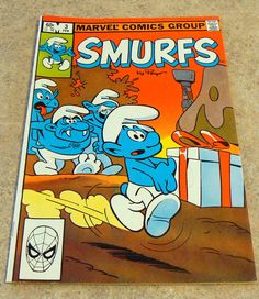 Every 80s Kid remembers the Smurfs!! Great collector Comic!!   Vintage Marvel Comic The Smurfs Vol 1 Number by SixthStreetMarket