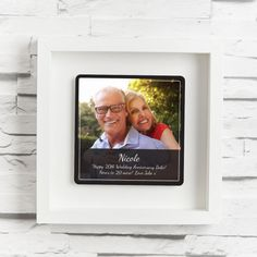 Th wedding anniversary gifts twentieth wedding anniversary china wedding anniver 20th Wedding Anniversary Gifts, Personalized Anniversary Gifts, Anniversary Gift For Her, Shadow Frame, China, Plate, Names, Display, Grey