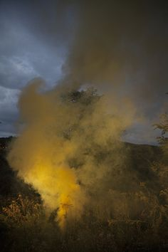 Smoke Signals Fire. #orange #blue