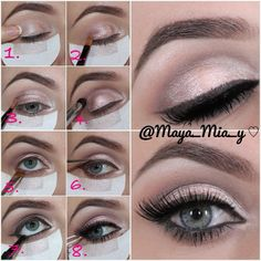 .@maya_mia_y | Prom look Pictorial 1.Apply MAC trophy big bounce shadow 2.MUA pink sorbe... | Webstagram - the best Instagram viewer