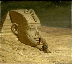 "Artist: Elihu Vedder  ""The Questioner of the Sphinx"""