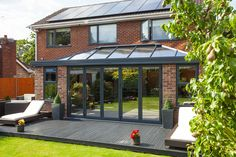 Orangery with the bi-folds closed