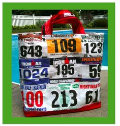 Great way to recycle old race bib numbers!