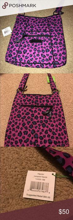 "Vera Bradley Leopard Spots Large Hipster NWT Bag Length 11"" Strap drop 13 and Adjusts to 26"" Bag Depth is 1.25 Zip closure Vera Bradley Bags Crossbody Bags"
