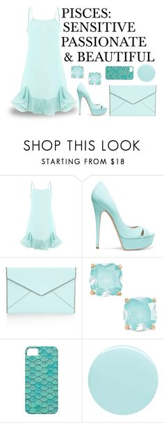 """""""Zodiac Sign #12: Pisces"""" by pauirh ❤ liked on Polyvore featuring Casadei, Rebecca Minkoff, Kate Spade and JINsoon"""
