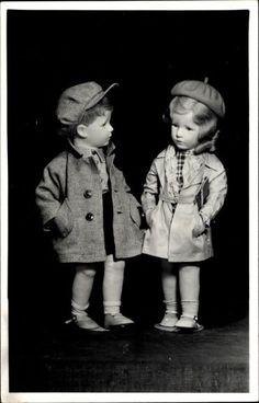 Käthe Kruse Schulkinder Puppenpaar 1937