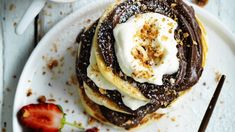 Jill Dupelix's Nutella pancake stack ... Yes, you should make this.