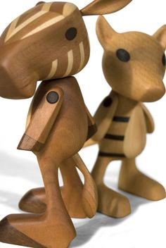 Josh Finkle: Extinct Toys. Handcrafted wooden toys of recently extinct animals.