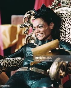 Photo d'actualité : Eartha Kitt , US actress and singer, in costume...