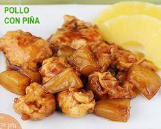 pollo con piña, una receta muy oriental