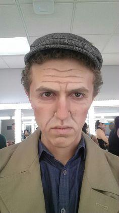 Old man make-up straight on