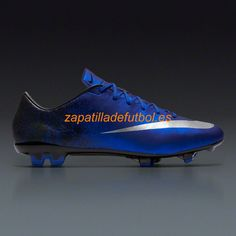 finest selection 6989b d9b53 Venta caliente Zapatos de Soccer Nike Mercurial Veloce II CR7 FG Plateado  Azul Real Del Corredor Azul Negro Metalico
