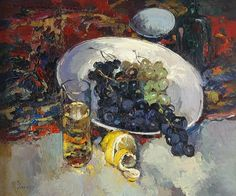 Alexi Zaitsev, Still-life with Grapes on ArtStack #alexi-zaitsev #art