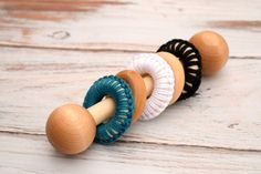 Baby Toys Baby Rattle Wooden Baby Rattle by PumpkinsPlaythings