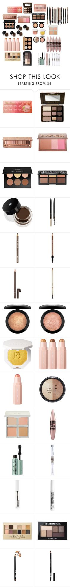 """""""makeup b"""" by cuteoutfits4you on Polyvore featuring Too Faced Cosmetics, Urban Decay, Maybelline, Anastasia Beverly Hills, Kat Von D, Lancôme, Lash Star Beauty, Bourjois, Shiseido and Inglot"""