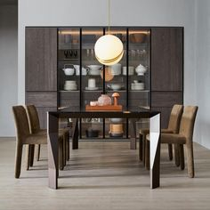 Choose from the largest collection of Dining Room Design & Decorating Ideas to add style at Dining Room. Discover best Dining Room interior inspiration photos for remodel & renovate, here. Home Decor Kitchen, Kitchen Interior, Garderobe Design, Crockery Cabinet, Cuisines Design, Dining Room Design, Design Table, Dining Rooms, Dining Area