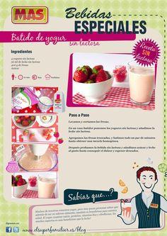 Hoy hacemos un batido de yogur sin lactosa, para que todos puedan disfrutarlo #Receta #InfoReceta