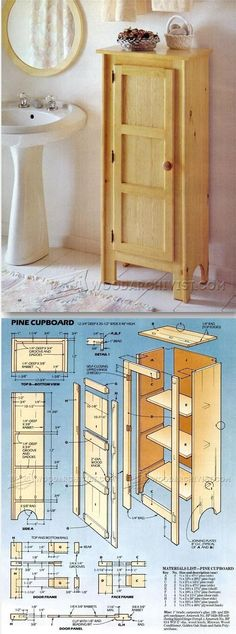 Pine Cupboard Plans - Furniture Plans and Projects - Woodwork, Woodworking, Woodworking Plans, Woodworking Projects Easy Wood Projects, Easy Woodworking Projects, Furniture Projects, Wood Furniture, Project Ideas, Woodworking Furniture Plans, Teds Woodworking, Wood Plans, Planer