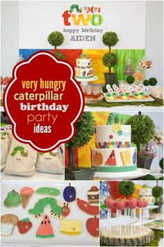Do you want a colorful birthday party for your little one? Find awesome inspiration in these Very Hungry Caterpillar party ideas. & The Very Hungry Caterpillar Birthday Party Ideas | Pinterest ...